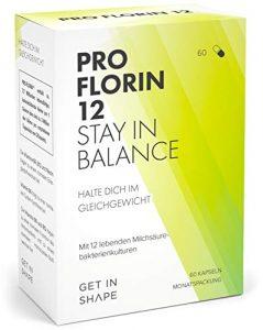 Pro Florin 12 – Kulturen Komplex – 60 Kapseln der 12 wichtigsten Bakterienstämme (hochdosiert mit 20 Mrd. KbE) – Effektive Mikroorganismen zum Darmflora Aufbau von Get In Shape