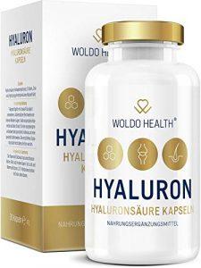 Hyaluronsäure Kapseln hochdosiert mit Collagen Biotin & Vitamin Zink – Hyaloronsäure laborgeprüft geeignet für Haut, Anti-Aging und Gelenke – 90x vegane Kapseln für 3 Monatsvorrat