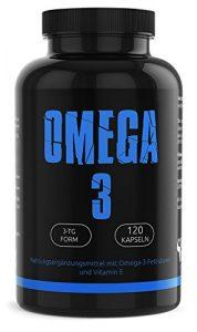 GYM-NUTRITION® – PREMIUM Omega 3 Kapseln hochdosiert | 120 reine Fischölkapseln mit EPA & DHA | Natürliches Fischöl ohne Gentechnik | 100% Made in Germany | Aus essentiellen Fish Oil Fettsäuren