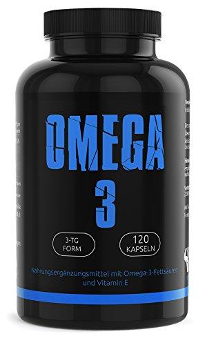 GYM-NUTRITION® - PREMIUM Omega 3 Kapseln hochdosiert | 120 reine Fischölkapseln mit EPA & DHA | Natürliches Fischöl ohne Gentechnik | 100% Made in Germany | Aus essentiellen Fish Oil Fettsäuren
