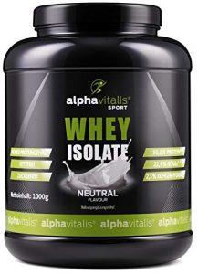 Whey Protein Isolate Neutral – H²O-optimiert – 90% Protein! – Zuckerfrei – Fettfrei – 1000g WPI ohne Süßstoff (ohne Aspartam, ohne Cyclamat) EINWEG