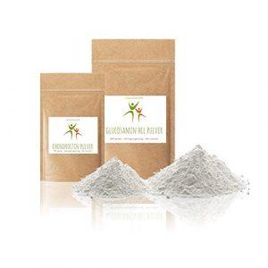 SET-ANGEBOT: Chondroitin Pulver 100 g (Chondroitinsulfat) + Glucosamin HCL (Hydrochlorid) Pulver 300 g (Aminozucker) – fein gemahlen – OHNE Hilfs- u. Zusatzstoffe – Qualität: MADE IN GERMANY