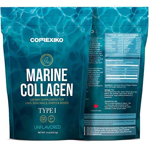 Premium Marine Kollagen Hydrolysat Peptide (Made in Canada) - Von Wild gefangenem Fisch (nicht gezüchtet), Anti-Aging-Protein-Pulver für Haut, Haare, Nägel, Gelenke, Knochen und Verdauungs-Gesundheit