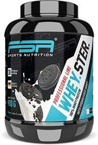 Whey Protein Eiweißpulver der deutschen Profisport Marke FSA Nutrition® | Low Carb Proteinpulver mit BCAA | Hergestellt in Deutschland | 900g | Cookies & Cream