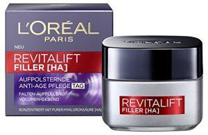 L'Oréal Paris Hyaluronsäure Tagescreme, Anti-Age Feuchtigkeitspflege, Revitalift Filler Gesichtscreme gegen Falten, 50ml