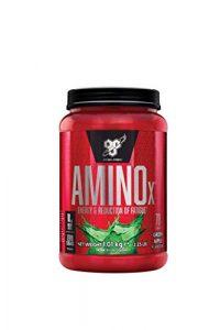 BSN Amino X Verzweigtkettige Aminosäuren (mit Vitamin D, Vitamin B6, Taurin, Alanin und Arginin. BCAA-Pulver von BSN) Green Apple, 70 Portionen, 1kg