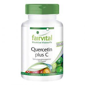 Quercetin Kapseln mit Vitamin C – HOCHDOSIERT – VEGAN – 120 Kapseln – Antioxidantien