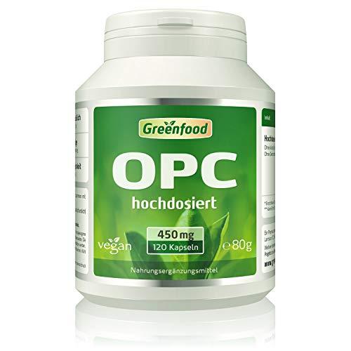 Greenfood OPC Traubenkernextrakt hochdosiert 450 mg , 120 Kapseln, vegan