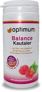 Optimum24 | Leckere Balance-Säure Base Kautaler für den Sport| Calcium-Multivitamine | Balance Kur mit Mineralstoffe-Vitaminen | Magnesium+Mangan+Kupfer+Chrom
