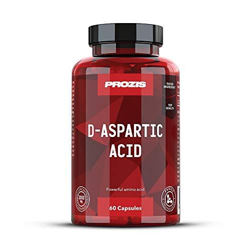 Prozis D-Asparaginsäure 1500mg 60 Kapseln - Hochwertiges Ergänzungsmittel zur Steigerung des Testosteronsopiegels, für mehr Stärke, Ausdauer und Energie - 60 Kapseln