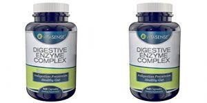 Doppel-Pack (Packung mit 2) Vitasense Verdauungs Enzym Komplex – Verdauungsstörungen-Prävention, gesunde Darm – 60 Kapseln
