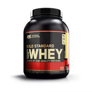 Optimum Nutrition Gold Standard Whey Protein Pulver (mit Glutamin und Aminosäuren. Eiweisspulver von ON) Banana Cream, 73 Portionen, 2,27kg