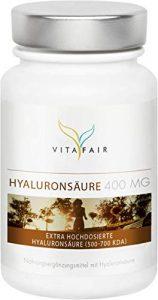Hyaluronsäure – 400mg pro Kapsel – 120 Kapseln – Hochdosiertes Hyaluron aus Mais-Fermentation mit 500-700 kDa – Vegan – Ohne Magnesiumstearat – Made in Germany