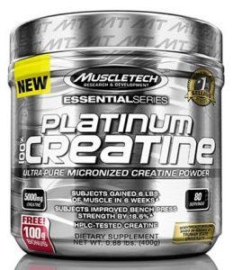 MuscleTech Platinum Creatine Kreatin Für Muskelaufbau Und Kraft I Unterstützung Beim Bodybuilding 400g Unflavoured