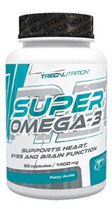 Trec Nutrition Super Omega 3 essentielle Fettsäure Supplement Vitamine Mineralien Diät Ernährung Sport 60 Kapseln