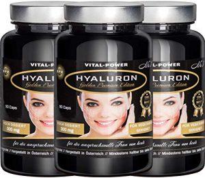 B.P.V – Hyaluronsäure 270 Kapseln im 3 Monatsvorrat – Hochdosiert 300 mg – 500-700 kDa – Anti-Aging für Haut & Gelenke – in Premium Qualität
