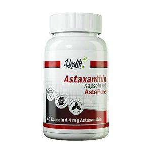 Health+ Astaxanthin – 60 Kapseln, natürliche Antioxidantien aus Mikroalgen, Astaxanthin Kapseln, hochdosiertes Antioxidans, vegan und ohne Zusätze – Made in Germany
