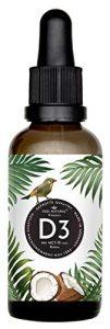Vitamin D3 – Laborgeprüfte 5000 IE je Tropfen – 50ml (1750 Tropfen) – in MCT-Öl aus Kokos gelöst – Ohne Zusätze – Hergestellt in Deutschland