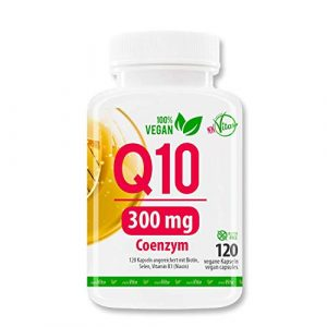 MeinVita Coenzym Q10-300mg – extra hochdosiert – 120 Kapseln – 100% Vegan – Bioaktiv, 4 Monatsvorrat, Premium Q10 aus pflanzlicher Fermentation, 71 g