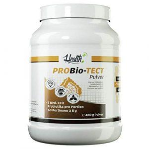HEALTH+ PROBIO-TECT Pulver 480g für 60 Portionen, breites & hochdosiertes Bakterienspektrum, Milchsäurebakterien, 5 mrd. CFU Bakterien pro Portion