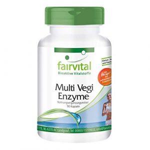 Multi Vegi Enzyme – Multienzym Komplex – 90 Kapseln – für eine zeitverzögerte Freisetzung