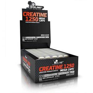 Olimp Creatine 1250 Mega Caps | 900 Kapseln | Kreatin-Monohydrat | Fitnessstudio, Radsport, Laufen | Regeneration