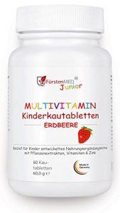 FürstenMED® Multivitamin Kautabletten Erdbeere – Kinder Vitamine – Ohne Zusatzstoffe – Natürlich – Vegan – Hergestellt In Deutschland