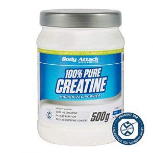 Body Attack 100% Pure Creatine Pulver, 1er Pack (1 x 500g)