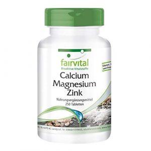 Calcium Magnesium Zink Tabletten – HOCHDOSIERT – VEGAN – 250 Tabletten – Mineralstoff-Komplex