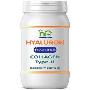 BioCell 60 Hyaluronsäure Kollagen-II Kapseln, hochdosiert 1000mg Collagen/Tag Haut Haare Gelenke von NP-Vital (1×60 Kapseln)