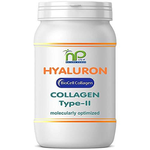BioCell 60 Hyaluronsäure Kollagen-II Kapseln, hochdosiert 1000mg Collagen/Tag Haut Haare Gelenke von NP-Vital (1x60 Kapseln)