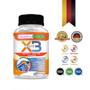 Stark Kurkuma + Hydrolisiertes Kollagen + Chondroitin + Glucosamin – starkes natürliches entzündungshemmendes Mittel – Schützt Muskeln, Gelenke und Knorpel – Entwickelt in Deutschland – 90 K