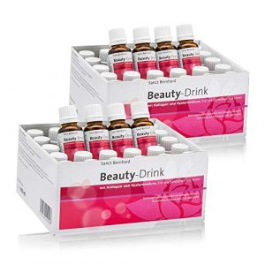 Sanct Bernhard Beauty-Drink mit Kollagen-Peptiden (VERISOL®), Hyaluronsäure, Vitaminen, Zink, Kupfer, Inhalt 60x 20ml