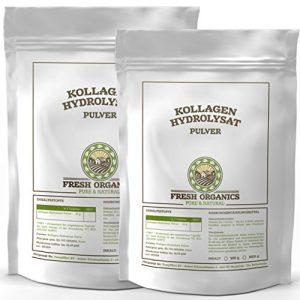 1000g / 1kg (2x 500g) Kollagen – Hydrolysat | 100% Reines Pulver | Collagen für Gelenke, Knorpel, Haut & Nägel ( Gelenkschutz ) | im widerverschließbaren Frischebeutel
