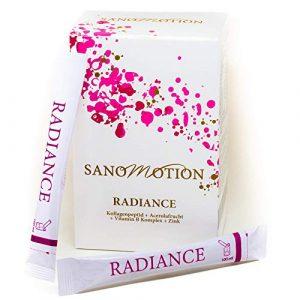 RADIANCE Hydrolysat-Peptide-Pulver Beauty Drink,30x5g hochdosiert Kollagen Stick plus Vitamin Komplex und Zink, Hyaluron-säure Elastin, Hautstraffung, Anti-Falten, starke Nägel und Haare Monatspackung