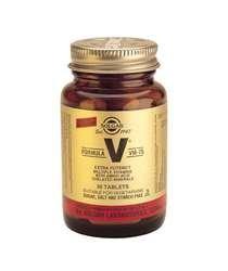 Solgar Formel V VM-75 Vitamine Chelat-Mineralien Glutenfrei – 90 vegane Tabletten