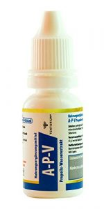 Tentorium Propolis Extrakt Tropfen A-P-V 15 ml – natürliches Bienenharz, Alkoholfrei, mit Silberionen, 100% Natur