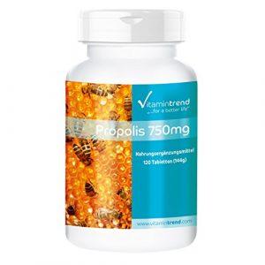 Bienen Propolis 750mg – 120 Tabletten – Made in Germany -Bienen-Propolis mit 3% Galangin