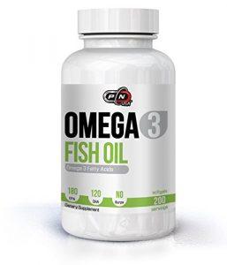 Pure Nutrition OMEGA 3 Kapseln Fischöl Hochdosiert 180 EPA 120 DHA 1000mg Ohne Zusätze Essentielle Fettsäuren Molekular Destilliert für Höchste Reinheit und Frische Vegan Bio Fish Oil