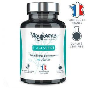 Apyforme – L Gasseri – Probiotika – Schlankheitsmittel – Probiotikum Lactobacillus gasseri – 60 vegetarische Kapseln – 2 Monate Kur – Made in France