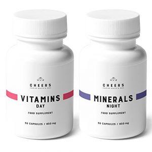 MultiVitamins and Minerals Formula – 2x 30 Vegan Kapseln – Multivitamin und Mineral Tabletten – Vitamin Ergänzungsmittel mit Rotem Ginseng, Ashwagandha, Rhodiola Rosea und Zitrus-Bioflavonoiden