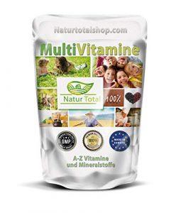 A-Z Multivitamin Tabletten Hochdosiert – 500 Stück XL Beutel – Multivitamine und Mineralstoffe A-Z – Premium Qualität – Hergestellt in Großbritannien unter GMP-Standards – Vegan – Glutenfrei
