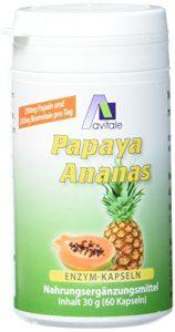 Avitale Papaya Ananas Enzym Kapseln, 60 Stück, 1er Pack (1 x 30 g)