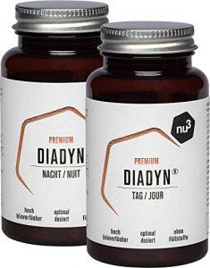 nu3 Premium Diadyn – 13 Vitamine + 9 Mineralstoffe – 2x 90 Kapseln – innovative Rezeptur (Tag & Nacht) – hohe Bioverfügbarkeit – mit Vitamin A, C, D, E, B1, B2, B5, B6, B12, Zink, Kupfer, Jod & Biotin