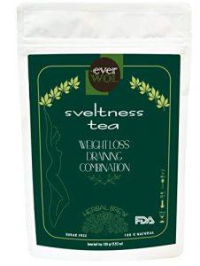 Everwood – SVELTNESS TEA – Tee für Fettverbrenner, entgiftig, 100% natürlich, reich an Vitaminen und Antioxidantien, Herkunft in Frankreich, Qualität FDA, 50 Tassen, 100 g.