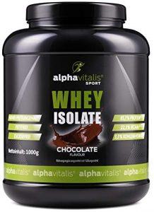 Whey Protein Isolate Schoko – H²O-optimiert – 85,7% Protein! – Zuckerfrei – Fettfrei – 1000g – WPI ohne Aspartam oder Cyclamat EINWEG