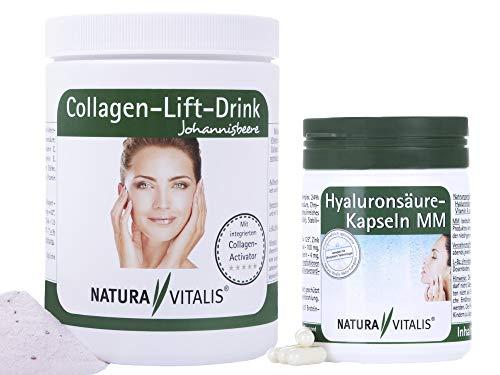 SALE: Natura Vitalis Hyaluronsäure MM 150 Kapseln - MHD 01/2020 + 400g Collagen Lift Drink- MHD 02/2020