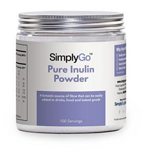 Reines Inulinpulver – 100 Portionen – eine fantastische Quelle von löslichen Ballaststoffen – Präbiotisches Ergänzungsmittel – geeignet für Veganer – SimplyGo von Simply Supplements