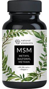 MSM Kapseln – Vergleichssieger 2018* – 365 vegane Kapseln – Laborgeprüft – 1600mg Methylsulfonylmethan (MSM) Pulver pro Tagesdosis – Ohne Magnesiumstearat, hochdosiert, hergestellt in Deutschland