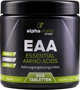 EAA vegan – Amino Komplex – alle 8 essentielle Aminosäuren – 300 Tabletten inkl. BCAA und L-Lysin – ohne Magnesiumstearat